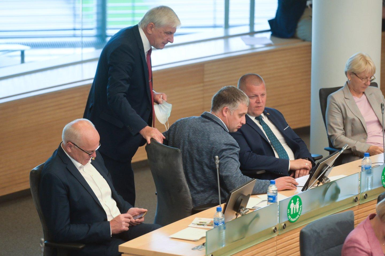 Parlamentarai svarstys Biudžeto sandaros įstatymo pakeitimus.<br>V.Skaraičio nuotr.