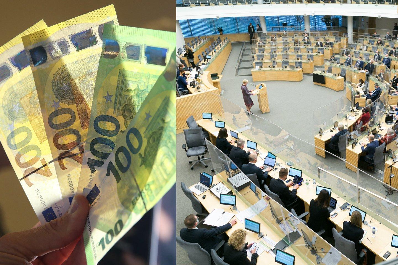 Parlamentarai svarstys Biudžeto sandaros įstatymo pakeitimus.<br>lrytas.lt koliažas.