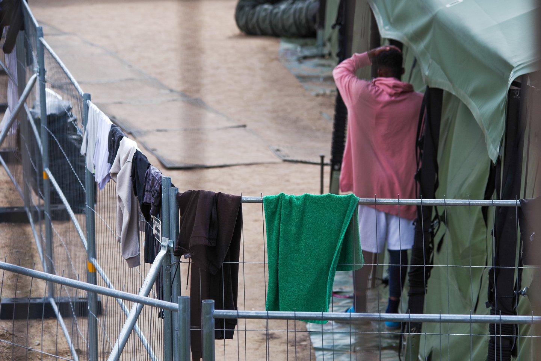 Migrantai.<br>V.Ščiavinsko nuotr.