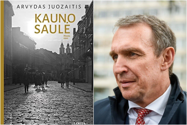"""A.Juozaitis premijuotas už publicistikos knygą """"Kauno saulė"""".<br>Lrytas.lt koliažas."""