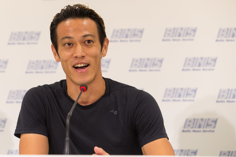 """Keisuke Honda prisijungė prieMarijampolės """"Sūduvos"""" klubo.<br>E.Žaldario nuotr."""