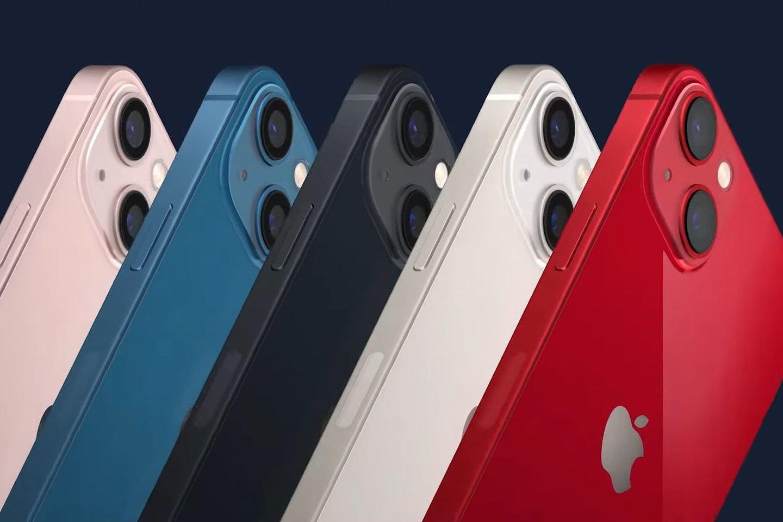 """Naujieji""""iPhone 13"""".<br>Transliacijos stop-kadras."""