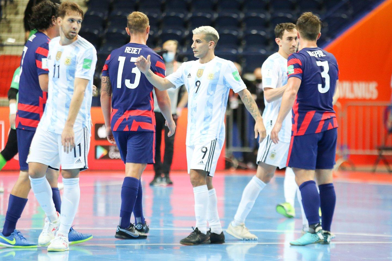 Argentinos ir JAV rungtynių akimirka.<br>T.Bauro nuotr.
