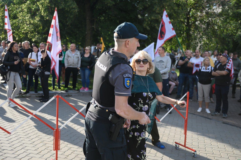 Po riaušių prie Seimo, A. Astrauskaitei leista rengti naują mitingą Vilniuje.<br>V.Skaraičio nuotr.