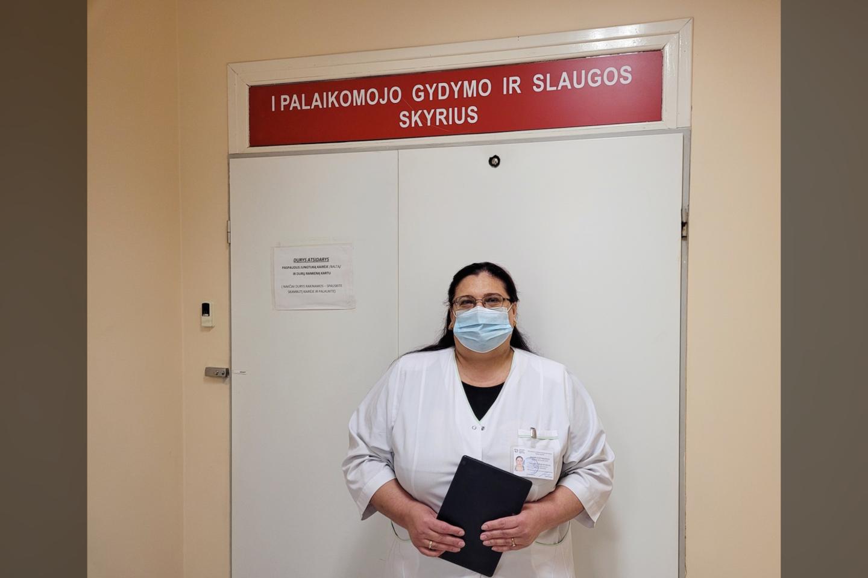 socialinė darbuotoja Tatjana Šabak-Spaskaja<br>Pranešimo spaudai nuotr.