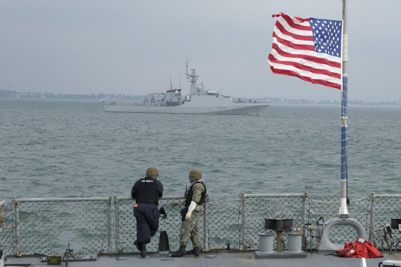 JAV ir Ukraina kitą savaitę Ukrainos vakaruose pradės bendras karines pratybas, jos truks iki spalio 1 d.<br>AP/Scanpix nuotr.