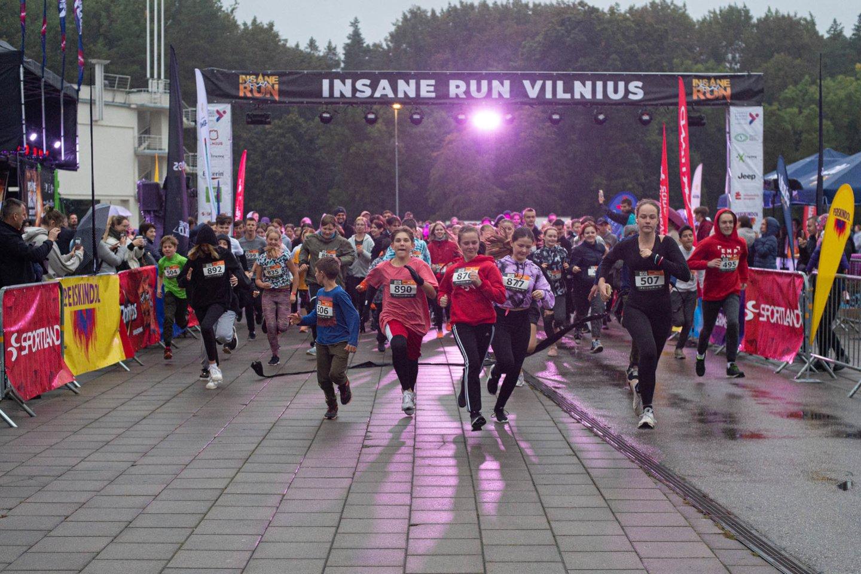 """""""Insane Run"""" bėgimas.<br>A.Pliadžio nuotr."""