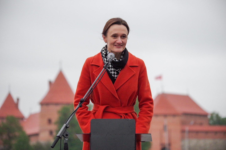 Buvusi garsi šachmatininkė V.Čmilytė-Nielsen nenoriai kalbėjo apie būsimus savo politinius ėjimus.<br>V.Ščiavinsko nuotr.