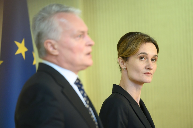 Gitanas Nausėda, Viktorija Čmilytė-Nielsen.<br>V.Skaraičio nuotr.