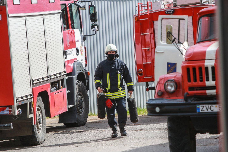 Kilus gaisrui bute Vilniaus rajone apdegė vyras.<br>G.Bitvinsko asociatyvi nuotr.