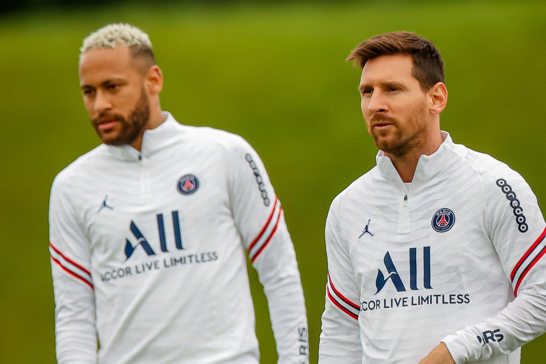 L.Messi (dešinėje) ir Neymaras<br>ZP/Scanpix nuotr.
