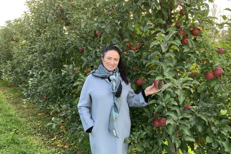 47 hektarų sode, kuriame auga net keturiasdešimt skirtingų rūšių obuolių.