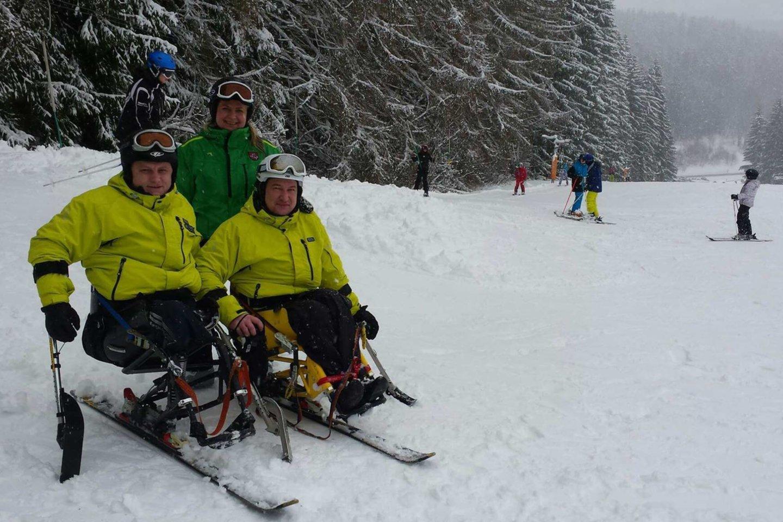O jūs manėte, kad nevaikštantys žmonės negali slidinėti?<br>Asmeninio archyvo nuotr.