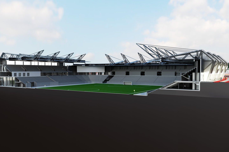 Būsimo stadiono vizualizacija.