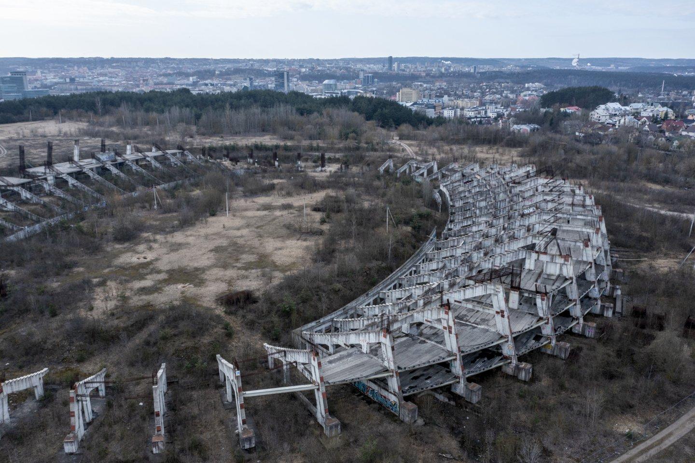 Nacionalinio stadiono statybos - lyg mitinis užkeikimas.<br>V.Ščiavinsko nuotr.