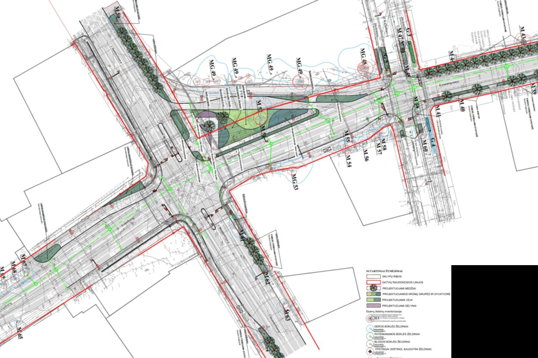 Sostinės savivaldybei pristatyti projektiniai siūlymai su numatomais V. Kudirkos gatvės rekonstrukcijos darbais.<br>Pranešėjų spaudai nuotr.