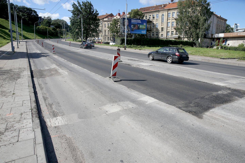 Sostinės savivaldybei pristatyti projektiniai siūlymai su numatomais V. Kudirkos gatvės rekonstrukcijos darbais.<br>R.Danisevičiaus nuotr.