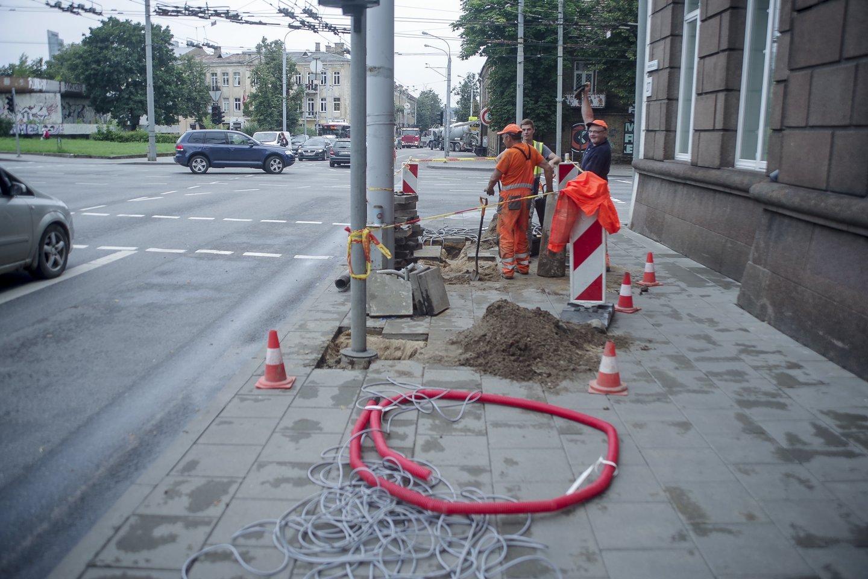 Sostinės savivaldybei pristatyti projektiniai siūlymai su numatomais V. Kudirkos gatvės rekonstrukcijos darbais.<br>V.Ščiavinsko nuotr.