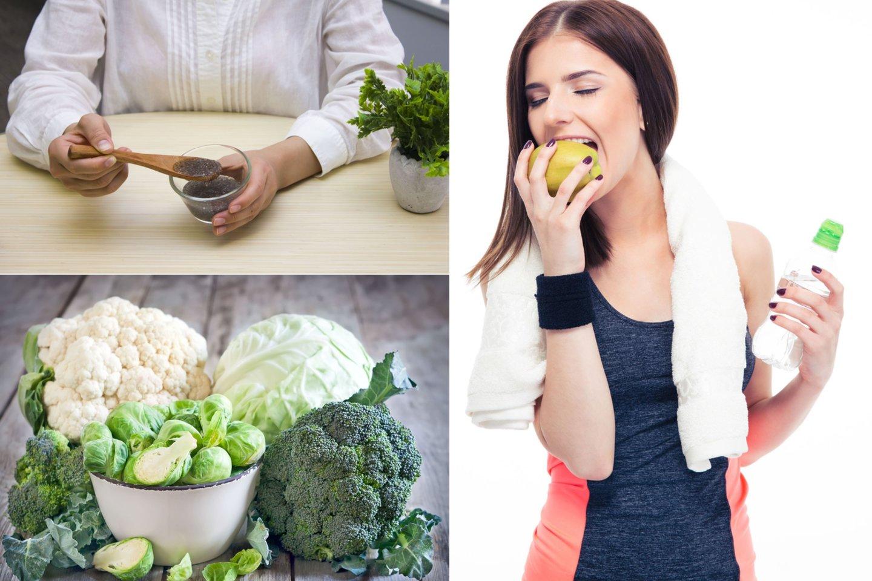 Subalansuota mityba, kurioje yra pakankamai ląstelienos, padės lieknėti sveikai ir užtikrintai.<br>lrytas.lt koliažas