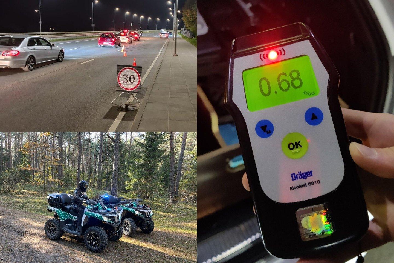 Per savaitę Kelių patrulių kuopos pareigūnai mobiliaisiais greičio matavimo prietaisais užfiksavo 1289 greičio viršijimo atvejus.<br>lrytas.lt fotomontažas