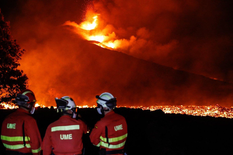 Ugnikalnis La Palmoje.<br>AFP/Scanpix nuotr.