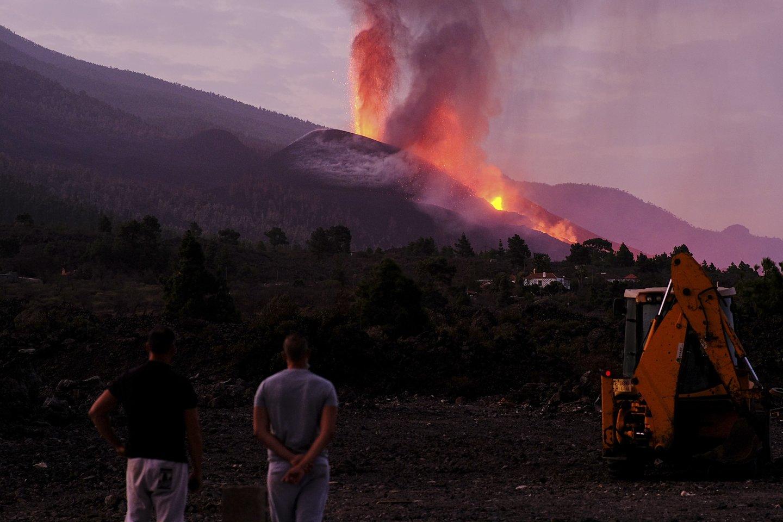 Ugnikalnis La Palmoje.<br>AP/Scanpix nuotr.
