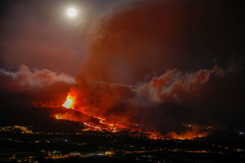 Ugnikalnis La Palmoje.<br>ZI/Scanpix nuotr.