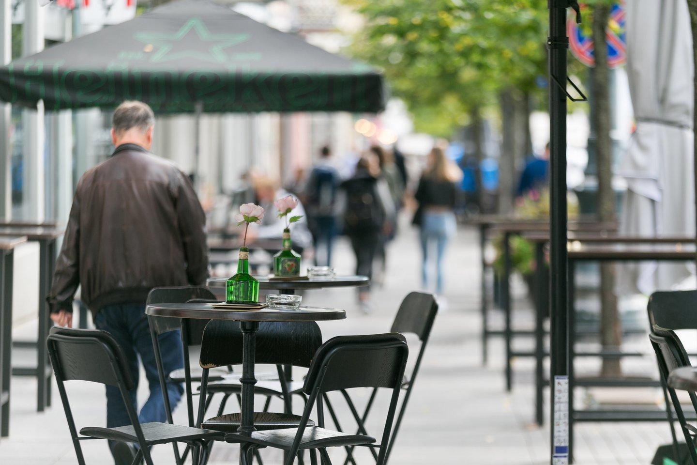 GP galimybių pasas prekybos centras kavinė lauko kavinė tikrinimas<br>T.Bauro nuotr.