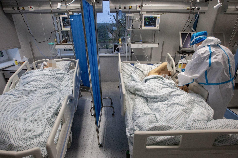 Santaros klinikos, koronavirusas.<br>V.Balkūno nuotr.