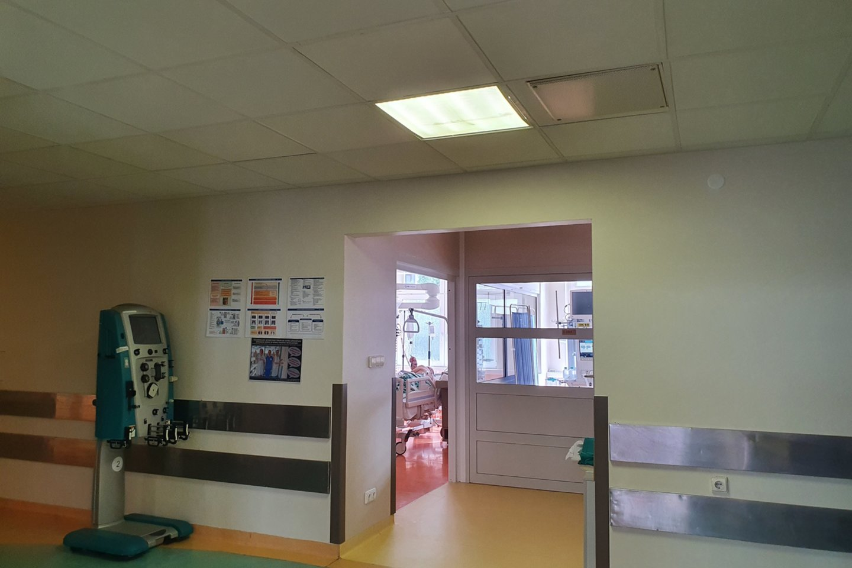 Santaros klinikos, pacientų lankymas<br>Santaros klinikų nuotr.