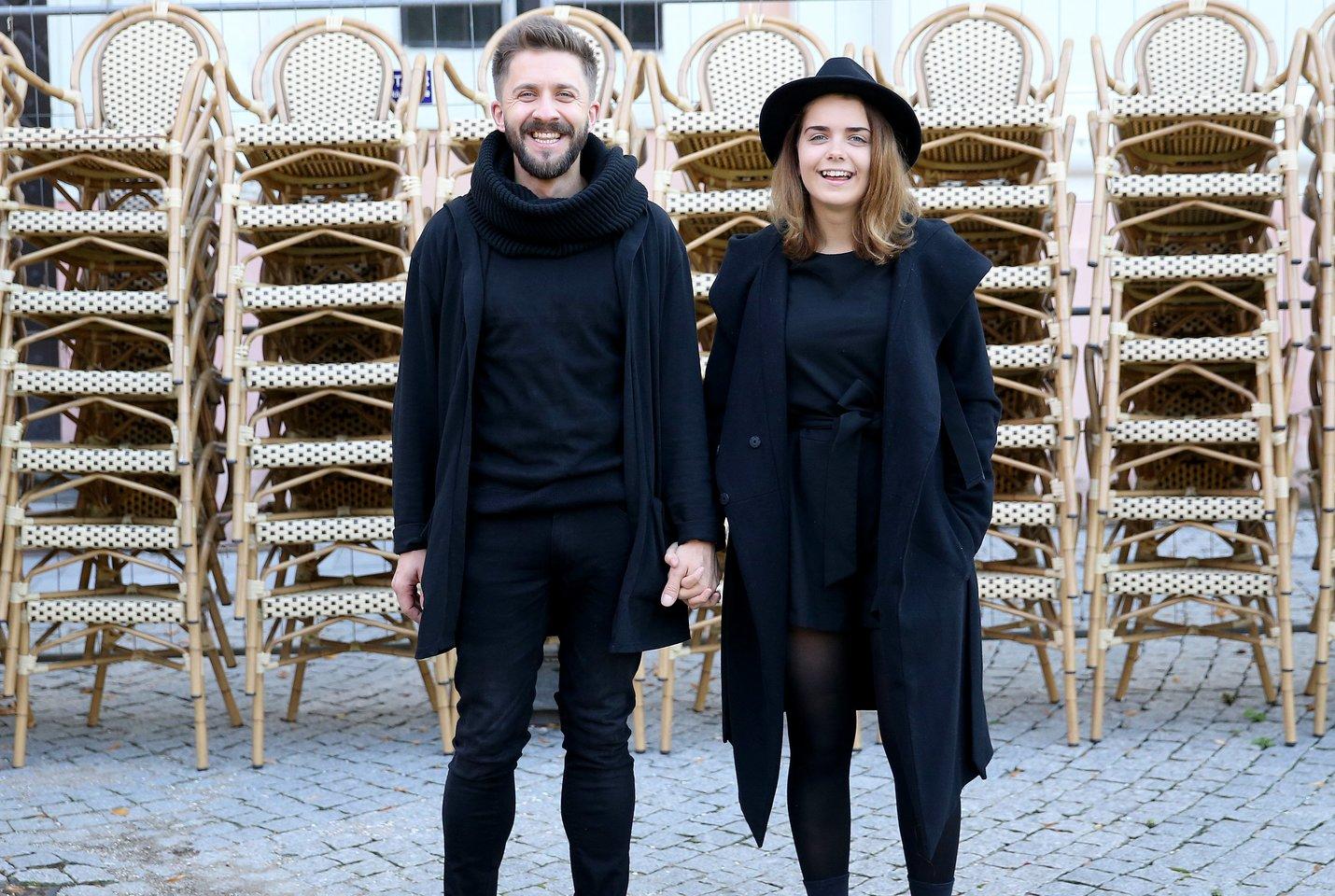 Jolita su savo vyru ir produseriu, LRT meteorologu Silvestru Dikčiumi.<br>R.Danisevičiaus nuotr.