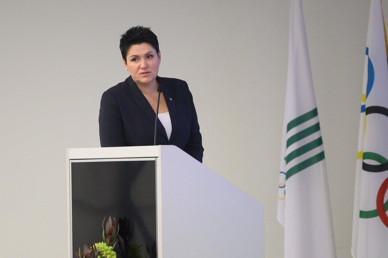 LTOK prezidentė Daina Gudzinevičiūtė<br>T.Bauro nuotr.