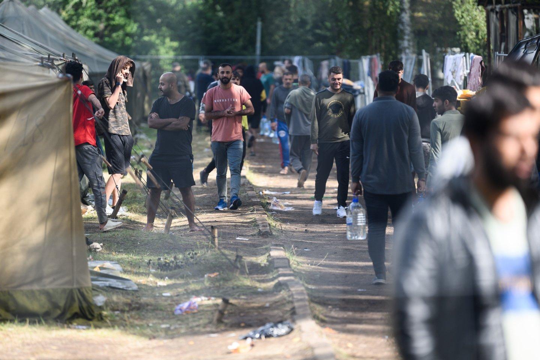 Baltarusijoje stebint išaugusius migrantų iš Artimųjų Rytų ir Afrikos srautus, Lietuvos pasieniečiai ruošiasi galimam naujam užsieniečių antplūdžiui.<br>V.Skaraičio nuotr.