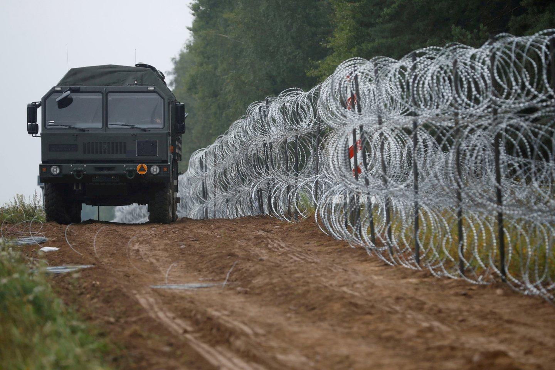 Lenkijos-Baltarusijos pasienis.<br>REUTERS/Scanpix nuotr.