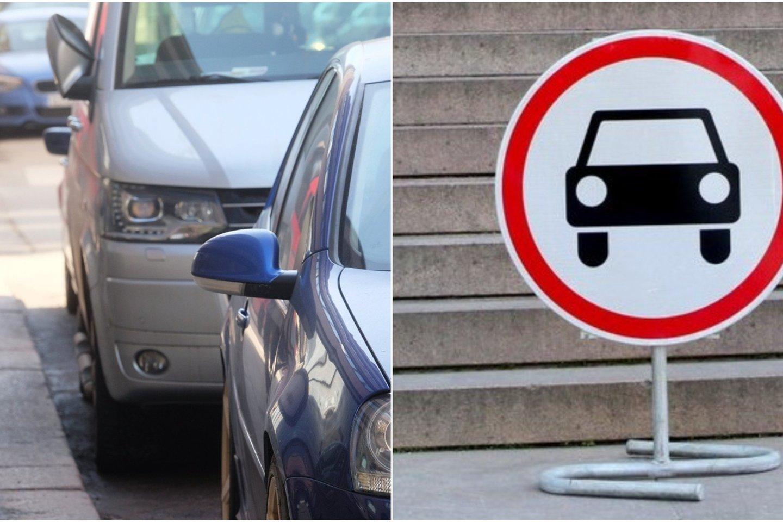 Kelio ženklas. Automobilių stovėjimo aikštelė.<br>123rf.com asociatyvioji ir M. Patašiaus nuotr.