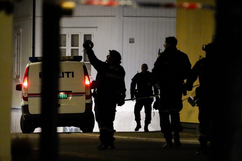 Norvegijoje per išpuolį žuvo žmonės.<br>NTB/Scanpix nuotr.