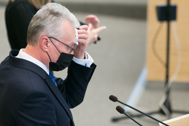 Prezidentas G.Nausėda.<br>T.Bauro nuotr.