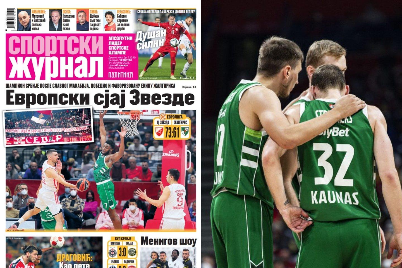 Serbų spauda gyrė Belgrado ekipos gynybą.<br>Lrytas.lt nuotr.