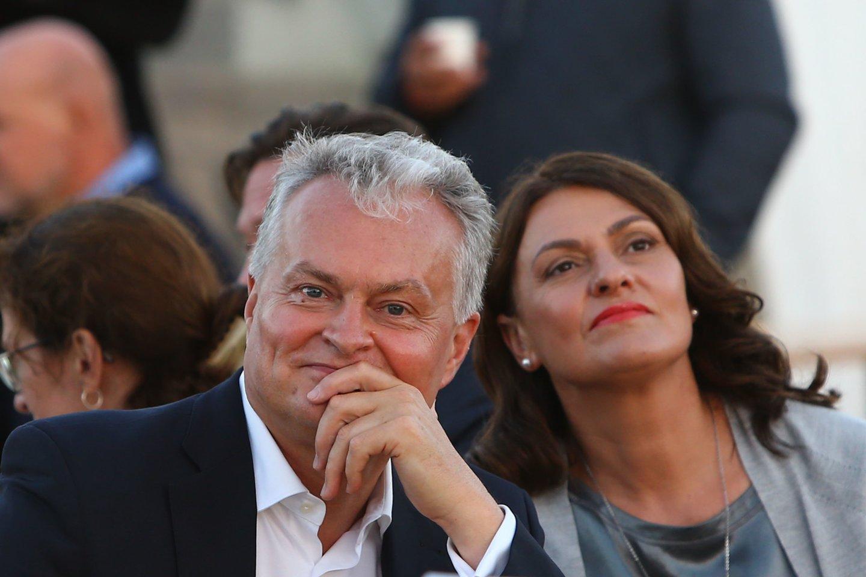 Prezidentas Gitanas Nausėda su žmona Diana.<br>G.Šiupario nuotr.
