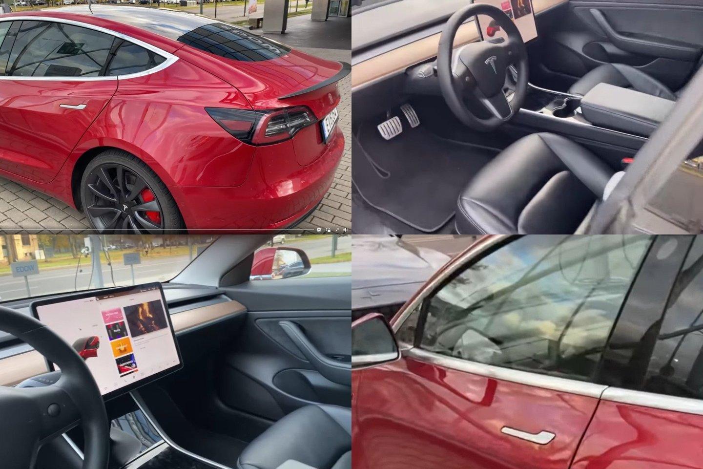 """Penktadienį pareigūnams bus perduoti automobilio """"Tesla"""" rakteliai.<br>lrytas.lt fotomontažas"""