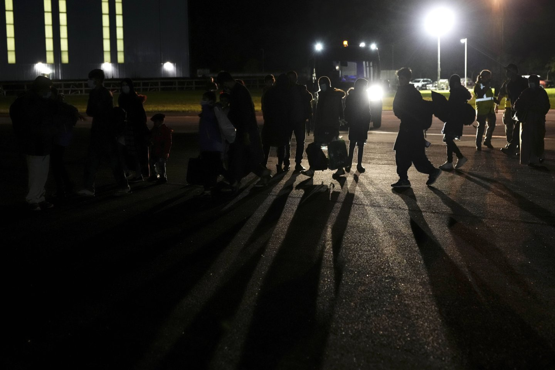 Migrantai Baltarusijoje.<br>AP/Scanpix nuotr.