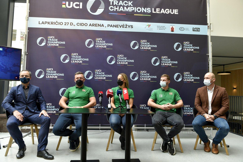 UCI treko Čempionų lygos pristatymas.<br>V.Ščiavinsko nuotr.